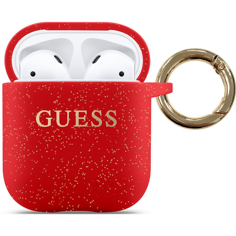 Guess AirPods Silicone Case Red