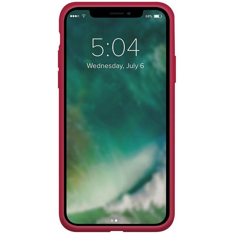 Xqisit Silicone Anti Bac Red Kryt iPhone 12/12 Pro
