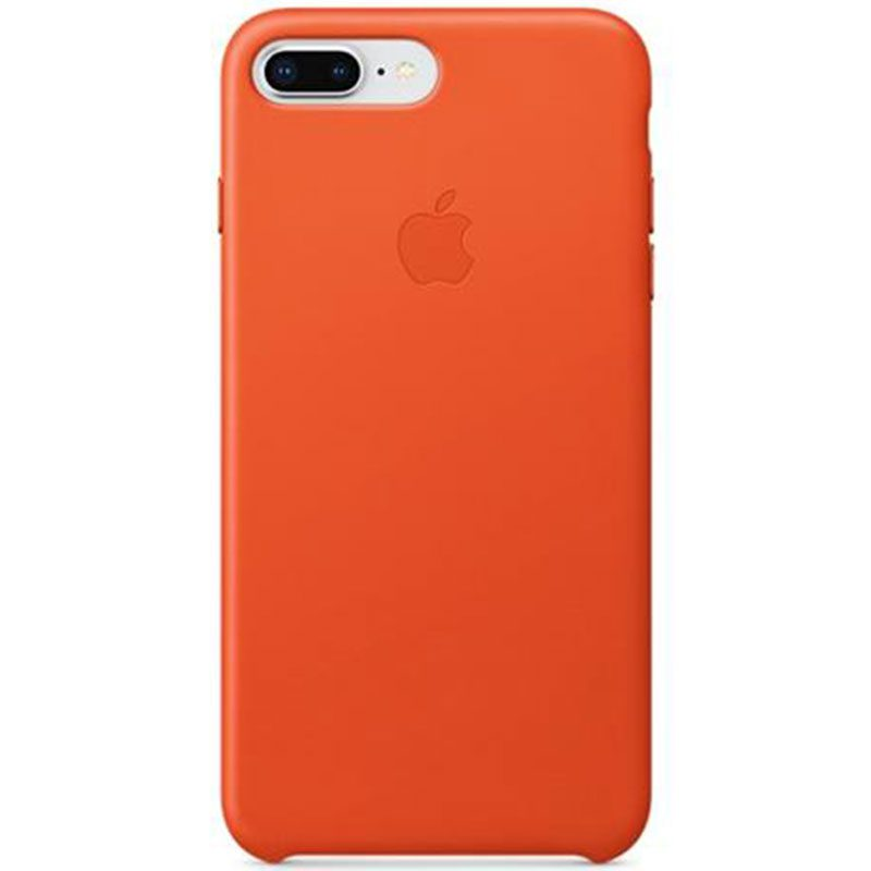 Apple Leather Bright Orange Kryt iPhone 7 Plus/8 Plus