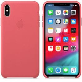 Apple Leather Peony Pink Kryt iPhone XS Max