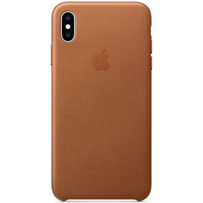 Apple Leather Saddle Brown Kryt iPhone XS Max