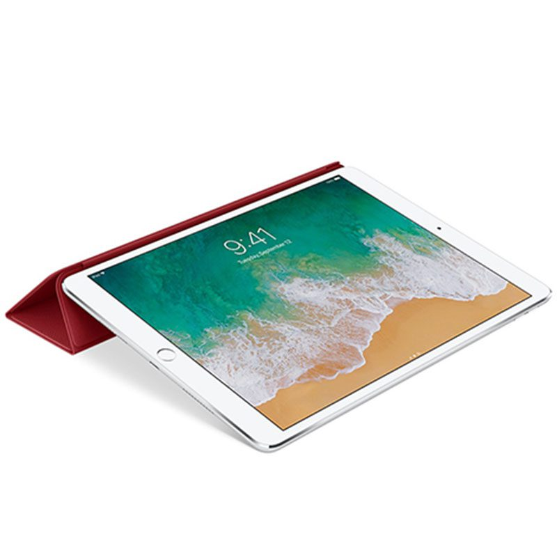 """Apple Leather Smart Cover Red Kryt iPad 10.5"""" Air/Pro"""