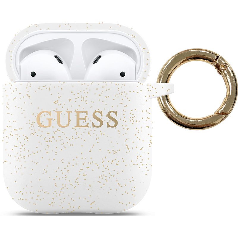 Guess AirPods Silicone Case White