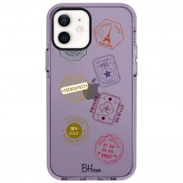 Travel Stamps Kryt iPhone 12/12 Pro