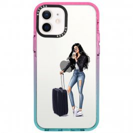 Woman Black Haired With Baggage Kryt iPhone 12/12 Pro