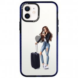 Woman Brunette With Baggage Kryt iPhone 12/12 Pro