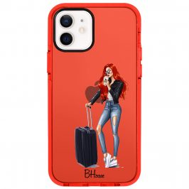 Woman Redhead With Baggage Kryt iPhone 12/12 Pro