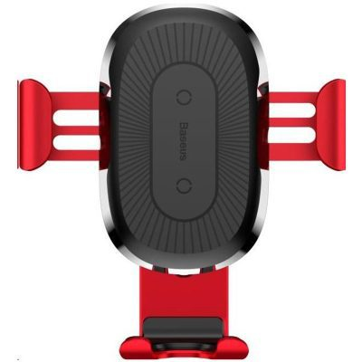 Baseus Car Mount Wireless Charger Gravity Red