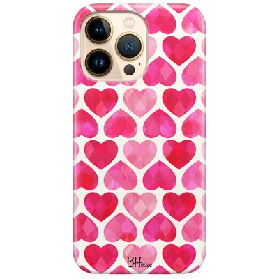 Hearts Pink Kryt iPhone 13 Pro