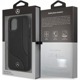 Mercedes Perforated Leather Black Kryt iPhone 12/12 Pro