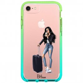 Woman Black Haired With Baggage Kryt iPhone 8/7/SE 2 2020