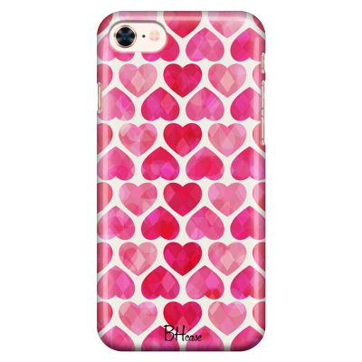 Hearts Pink iPhone 8/7/SE 2 2020 Tok
