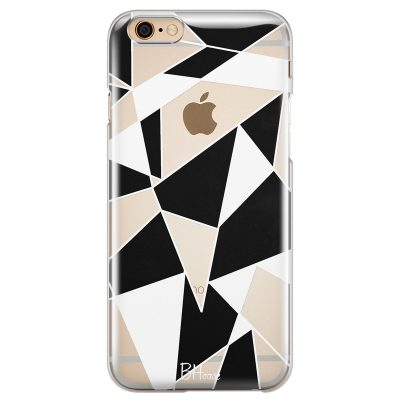Black White Geometric iPhone 6/6S Tok