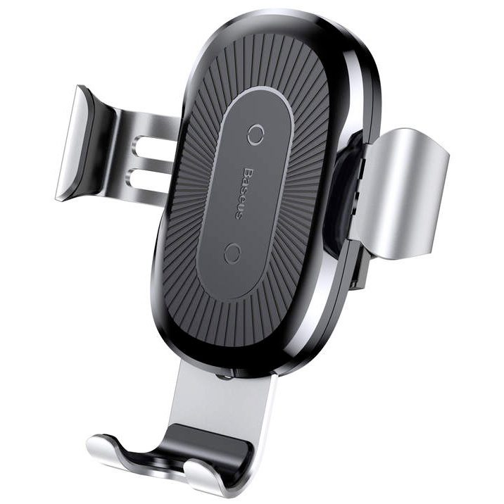 Baseus Gravity Car Mount Wireless Charger Silver