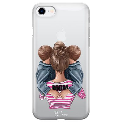 Mom Of Boy Twins iPhone 8/7/SE 2 2020 Tok