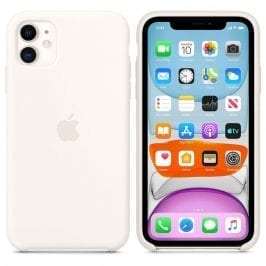 Apple White Silicone iPhone 11 Tok