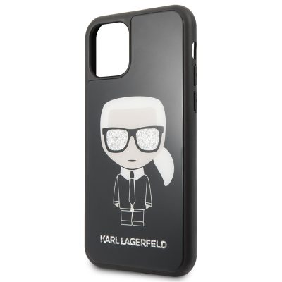 Karl Lagerfeld Glitter Iconic Body Black iPhone 11 Pro Tok
