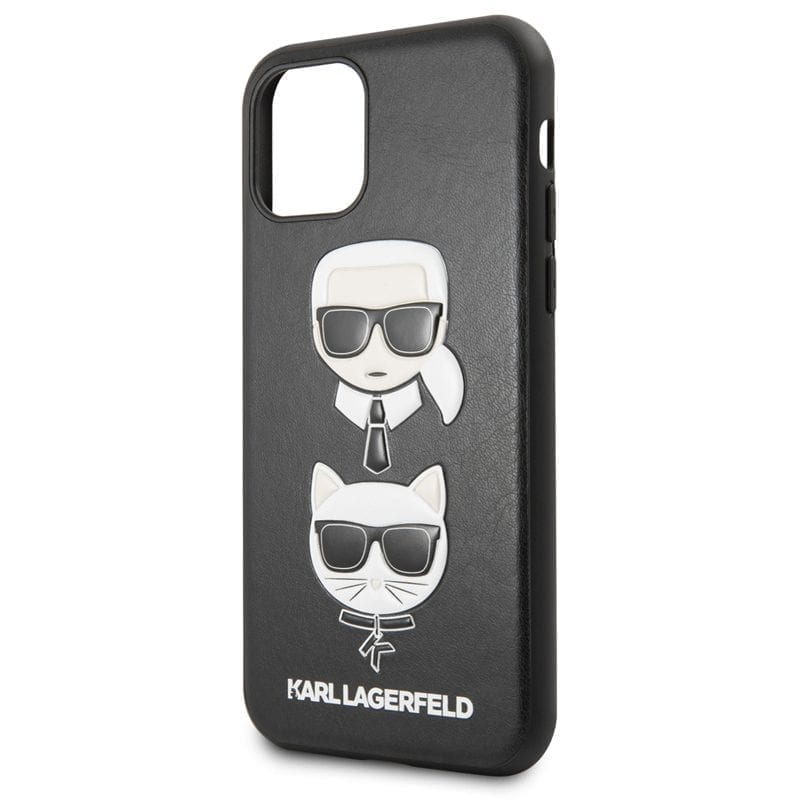Karl Lagerfeld Karl and Choupette Black iPhone 11 Tok