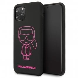 Karl Lagerfeld Silicone Pink Out Black iPhone 11 Pro Max Tok