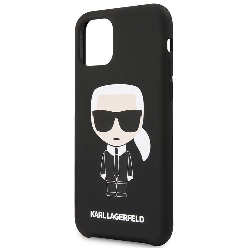 Karl Lagerfeld Iconic Full Body Silicone Black iPhone 11 Pro Tok