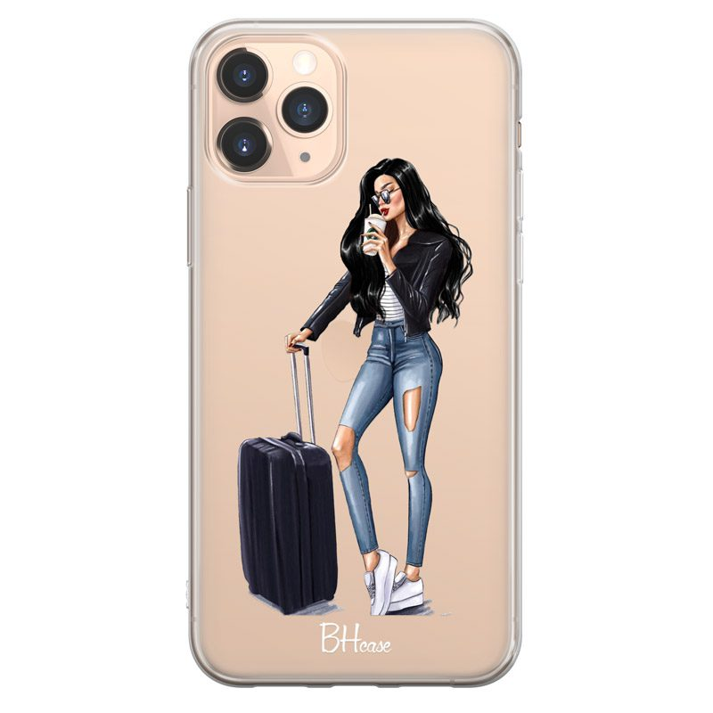 Woman Black Haired With Baggage iPhone 11 Pro Max Tok