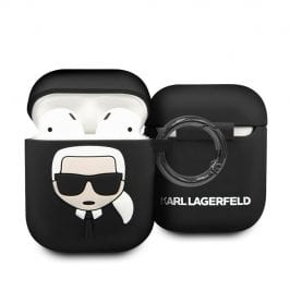 Karl Lagerfeld AirPods Silicone Case Black