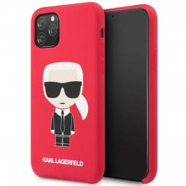Karl Lagerfeld Iconic Full Body Silicone Red iPhone 11 Pro Tok
