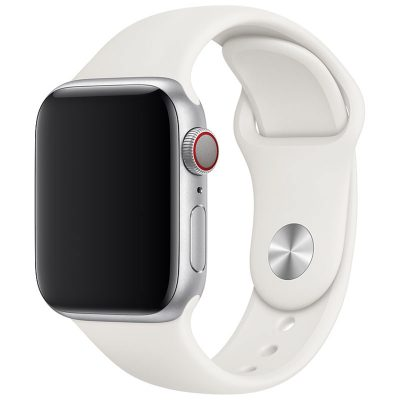 Silicone Szíj Apple Watch 42/44mm Light White Large