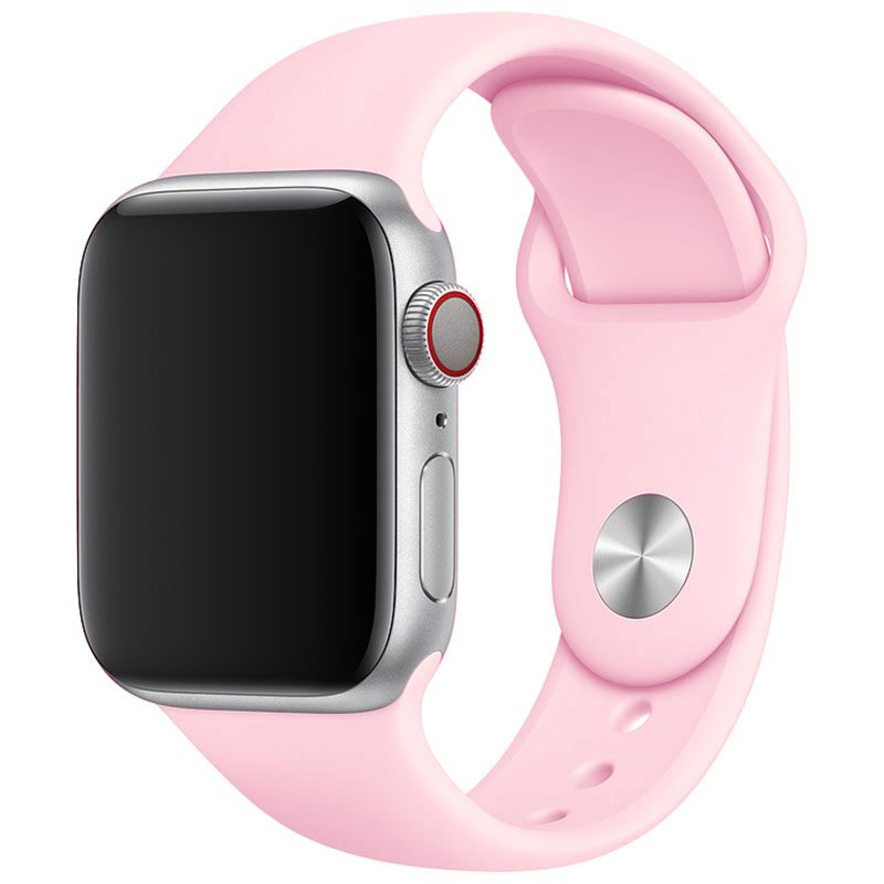 Silicone Szíj Apple Watch 45/44/42mm Spanish Pink Sand Large