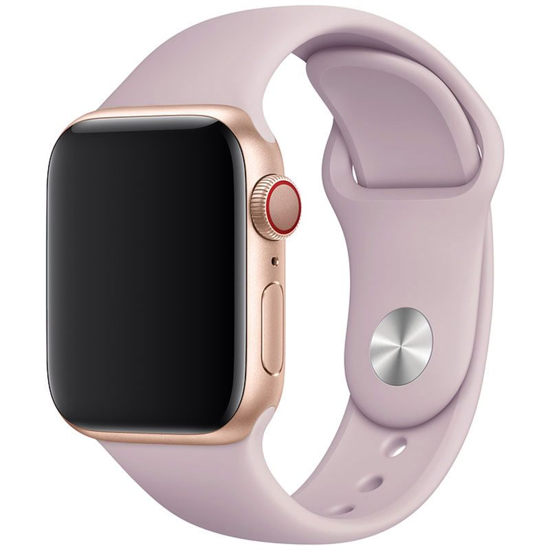 Silicone Szíj Apple Watch 45/44/42mm Pink Bell Large