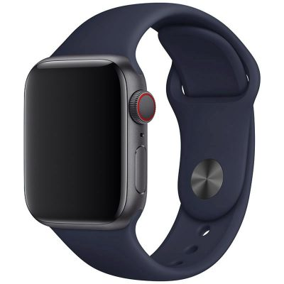 Silicone Szíj Apple Watch 42/44mm Midnight Blue Large