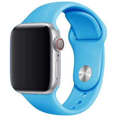 Silicone Szíj Apple Watch 45/44/42mm Blue Large