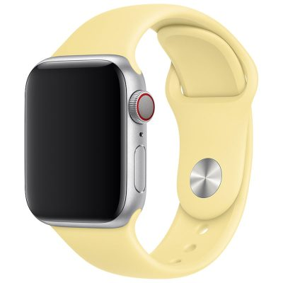 Silicone Szíj Apple Watch 42/44mm Mellow Yellow Large