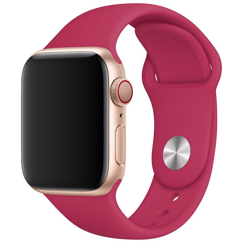 Silicone Szíj Apple Watch 42/44mm Pomegranate Large