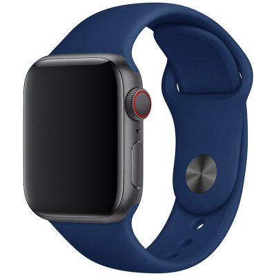 Silicone Szíj Apple Watch 45/44/42mm Cobalt Blue Large