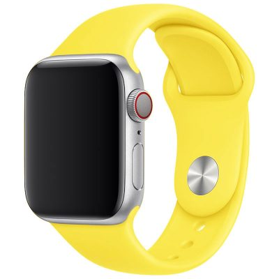 Silicone Szíj Apple Watch 45/44/42mm Yellow Large