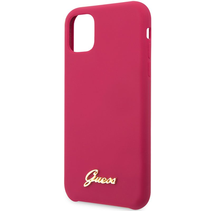 Guess Silicone Vintage Burgundy iPhone 11 Tok