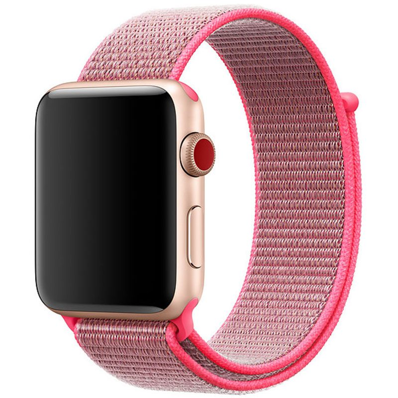 Nylon Szíj Apple Watch 42/44mm Brilliant Pink