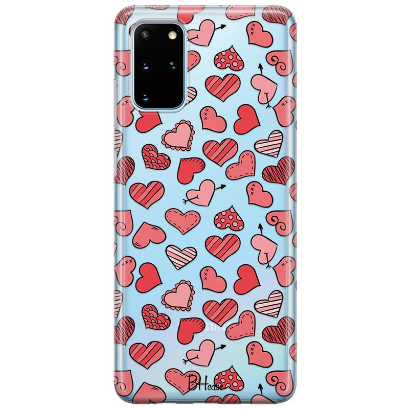 Hearts Red Samsung S20 Plus Tok