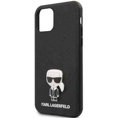 Karl Lagerfeld Saffiano Iconic Black iPhone 11 Tok