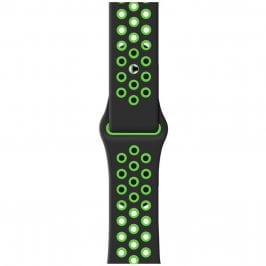 Sport Szíj Apple Watch 38/40mm Black/Green Small
