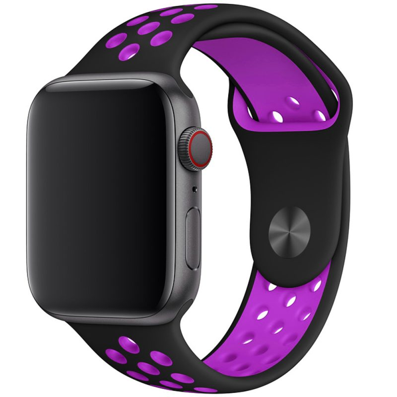 Sport Szíj Apple Watch 42/44mm Black/Purple Large