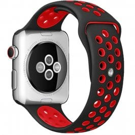 Sport Szíj Apple Watch 42/44mm Black/Red Large