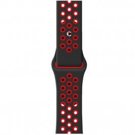 Sport Szíj Apple Watch 42/44mm Black/Red Small