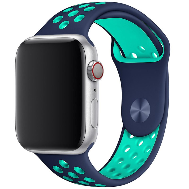 Sport Szíj Apple Watch 42/44mm Blue/Duck Green Large