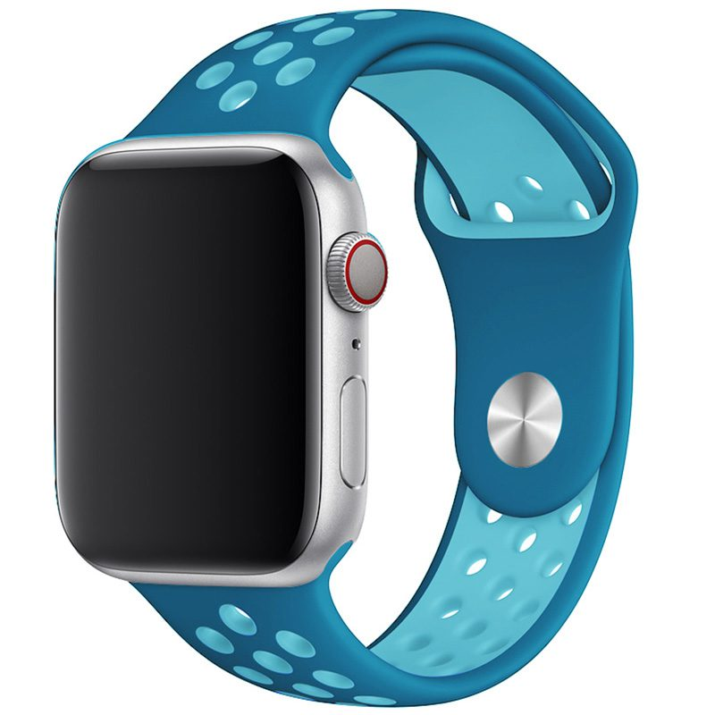 Sport Szíj Apple Watch 42/44mm Blue/Light Blue Large