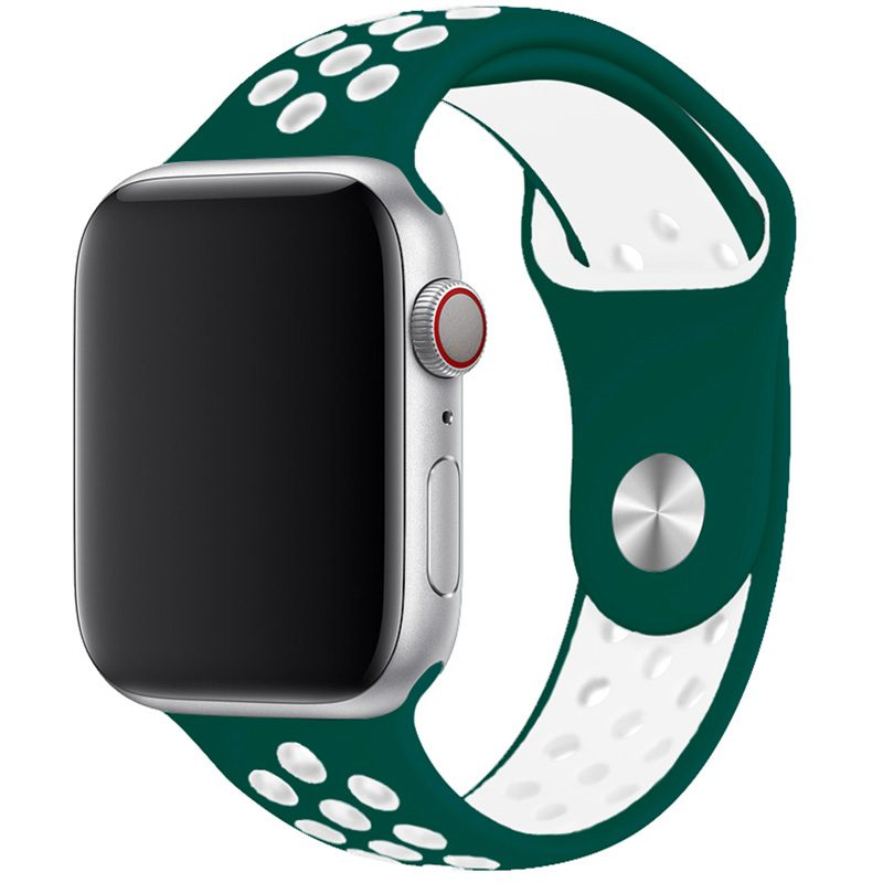 Sport Szíj Apple Watch 42/44mm Ink Green/White Large