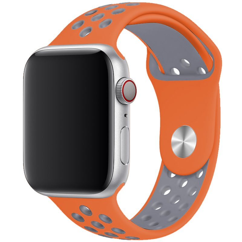 Sport Szíj Apple Watch 42/44mm Orange/Silver Large