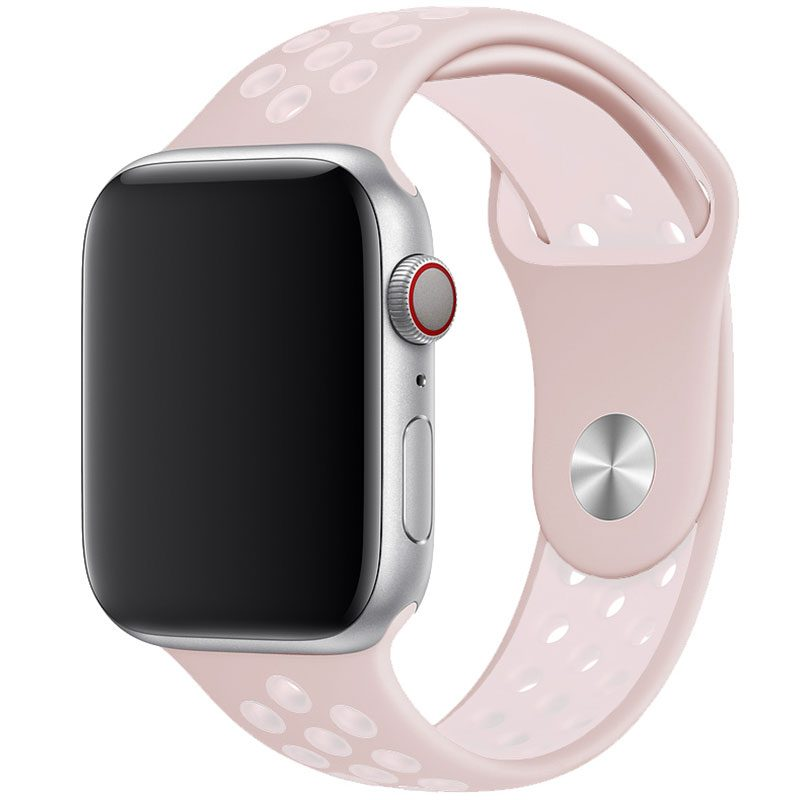 Sport Szíj Apple Watch 38/40mm Pink/White Large