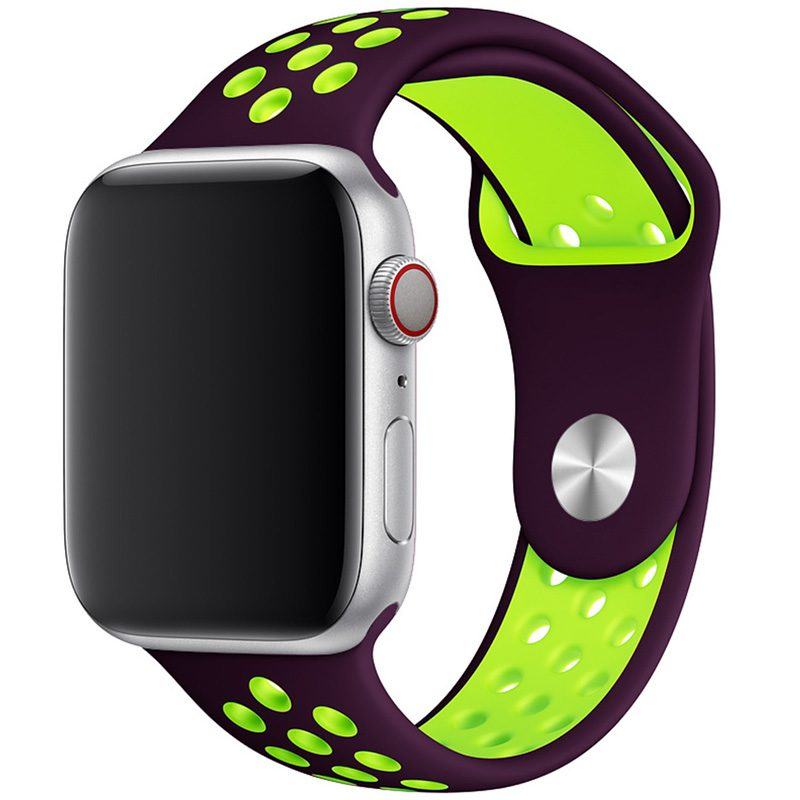 Sport Szíj Apple Watch 42/44mm Purple/Green Large